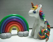 Custom Rainbow Unicorn Set Cake Topper Made-to-order