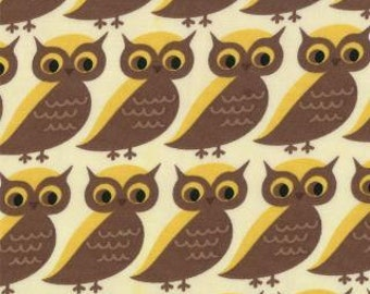 SALE - Smore Love - Whose Who owl natural by Eric Julie Cormstock from Moda