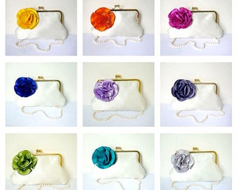 Customize Your Bridesmaid Gift or Clutch Purse- All Colors Available
