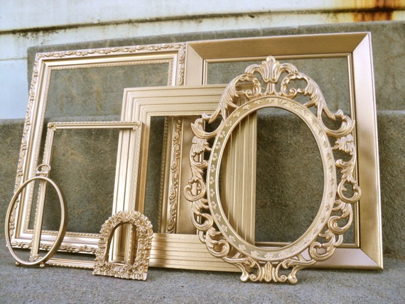 Large Gold Ornate Picture Frame Set By Melissap6908 On Etsy