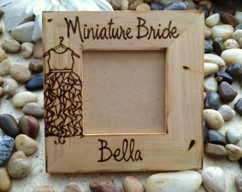 Miniature Bride Frame for your Special Flower Girl Personalized with HER Name and Dress