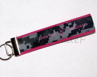 NAVY Key Fob Pink Forever & Always