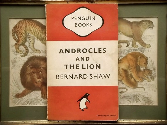 Penguin Book paperback by Bernard Shaw play - Androcles and the Lion and Old Fable Renovated