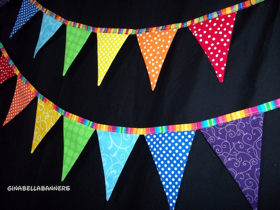 Circus Banner Carnival Decoration Rainbow By Ginabellabanners