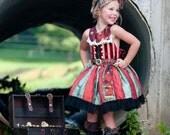 Girl's Pirate Costume, Halloween Costume, Ringmaster Costume, Child's Costume, Birthday Dress Up