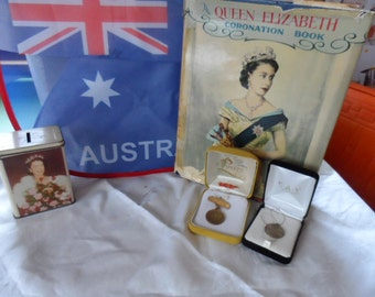 Queen Elizabeth Coronation 1950s book