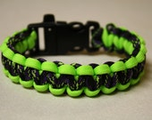 Zombie Survival Paracord Cobra Weave Bracelet With Built In Whistle - Custom Made To Your Wrist