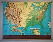 Vintage US School Map