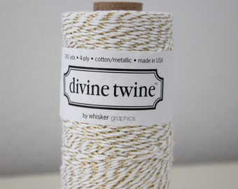 Divine Twine - Metallic Gold Bakers Twine - Full Spool - 240 yards