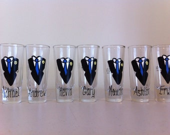 Groom & Groomsmen shot glasses