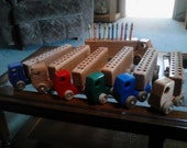 Wooden trucks for Crayons
