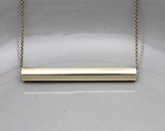 Minimalist Brass Necklace Contemporary Jewelry Design