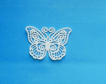 Lace Applique for Crafts or Crazy Quilt - Butterfly 005