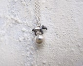 Super Mini Silver Malayan Tapir on The Ball Necklace