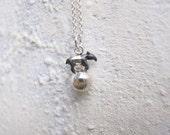 Super Mini Silver Malayan Tapir on The Ball Necklace