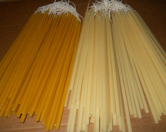 "112 Beeswax tapers candles 1/4"" x 12"""