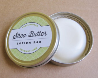Coconut Lime Shea Butter Solid Lotion Bar