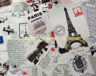 """L384A - Cotton Linen Fabric - Keeping Hidden Memories - Fat Quarter  - 27"""" x 19""""(70 x 50cm)"""