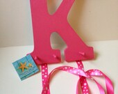 Hair Bow and Headband Holder (Letter and Color of Choice)