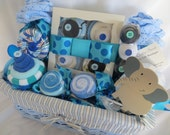 The Stork's Loaded 31 Piece Baby Shower Gift Basket for Baby Boy