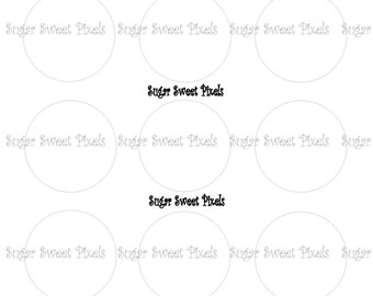INSTANT DOWNLOAD Solid White   colored blank 1inch Circle Bottlecap Images 4x6 sheet