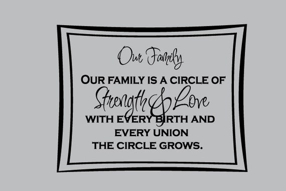 Quotes About Family Strength: Items Similar To Our Family Circle Of Strength Love Wall