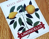 Personalized Limoncello labels with Vintage Botanical, set of 18