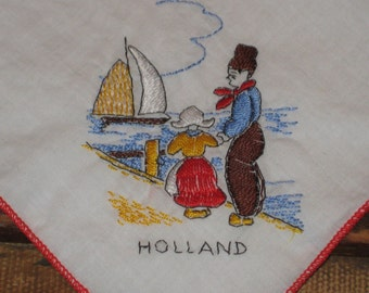 Hankie, Holland embroidery