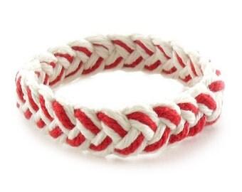 Red and White Sailor Friendship Bracelet