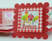 Farm 12 month Photo Banner, First Year Photo Clips, First Year Banner, Barnyard Theme, Farmyard Banner, Barnyard Photo clip, c-1034