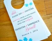 Destination Door hangers For Weddings