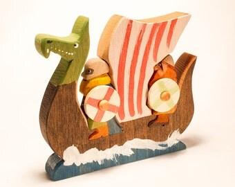 Norse Rovers / Viking Longboat 3D Jigsaw / Drakkar
