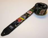 Sci-Fi comic book style guitar strap with double padding - This is NOT a licensed product