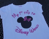Disney Shirt Girl or Boy, I'm going to Disney World Shirt, I'm Going to Disneyland Shirt, Print on both sides, Name on back
