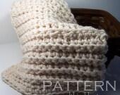 "Baby Blanket Chunky Fisherman Style Crochet PATTERN 25"" x 21""/(64 x 53) cm - PDF 2521 -"