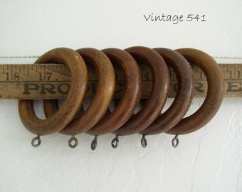 Vintage Wooden Curtain Rings Wooden Drapery Rings