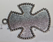 1 pc per pack of 73x59mm Large Filler Cross Antique Silver Lead free Pewter