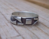 Matisse's Shadow Ring: Sterling Silver, size 7