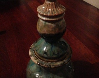 Decorative Ceramic Jar with Top