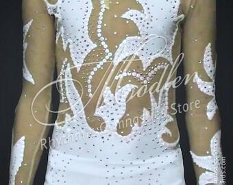 Rhythmic Gymnastics Leotard #97 for Competition | Order as Ice Figure Skating Dress, Acrobatic Gymnastics Costume or Baton Twirling Leotard