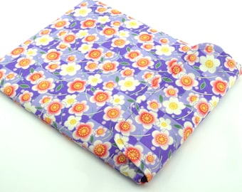 SALE Unique iPad Sleeve - Gift For Her - iPad Case - iPad Cover - Padded Tablet case Flap Closure - plum blossom purple