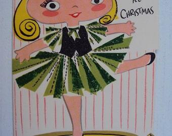 Vtg. Unused Granddaughter Christmas Card