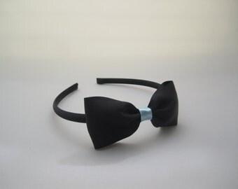 Black Headband with Bow - Alice In Wonderland Costume Accessory