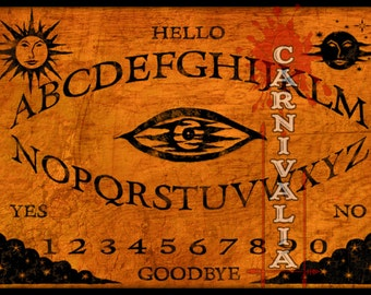 Eye Of The Storm Ouija style Talking-board, Spiritboard, Witchboard, speak to spirits of the dead with this antique looking alphabet oracle