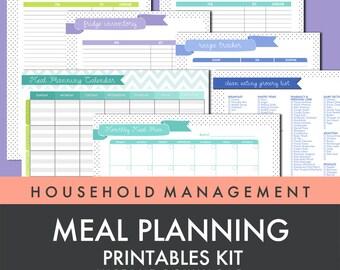 Meal Planning Printables kit - instant download!