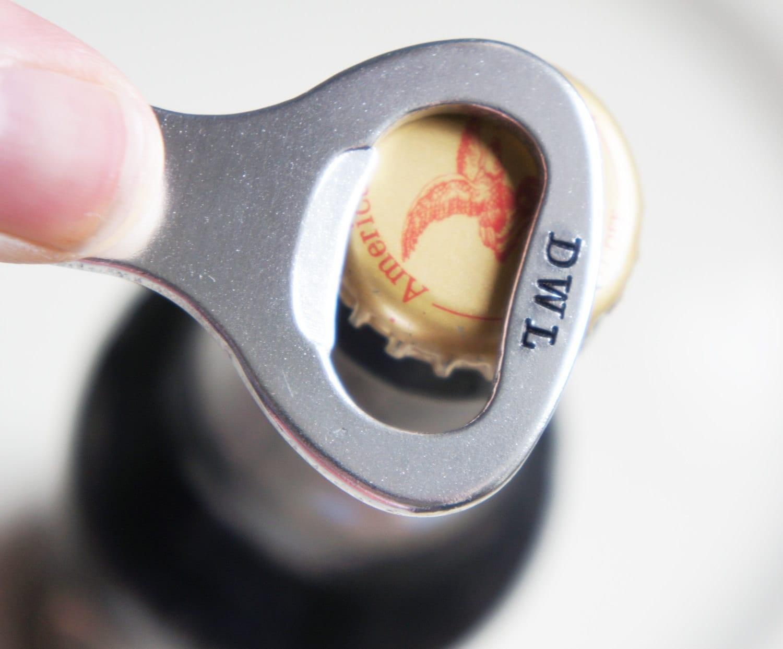 custom keychain bottle opener personalized groomsman best man. Black Bedroom Furniture Sets. Home Design Ideas
