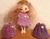 Realpuki Fairyland Dark  Lilac  Hand dyed Dress