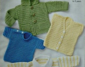 C3476 Crochet Pattern Babies 4 Lacy Tops DK (Light Worsted) King Cole