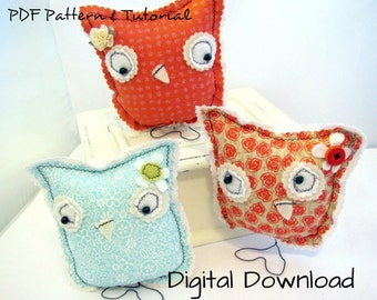 Owl, DIY, Spring Decor,Sewing Pattern PDF, Tutorial, Instant Download