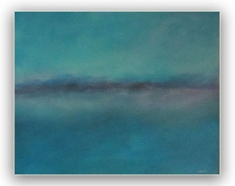 SALE - Painting Acrylic Original, Out of the Mist- Abstract Seascape